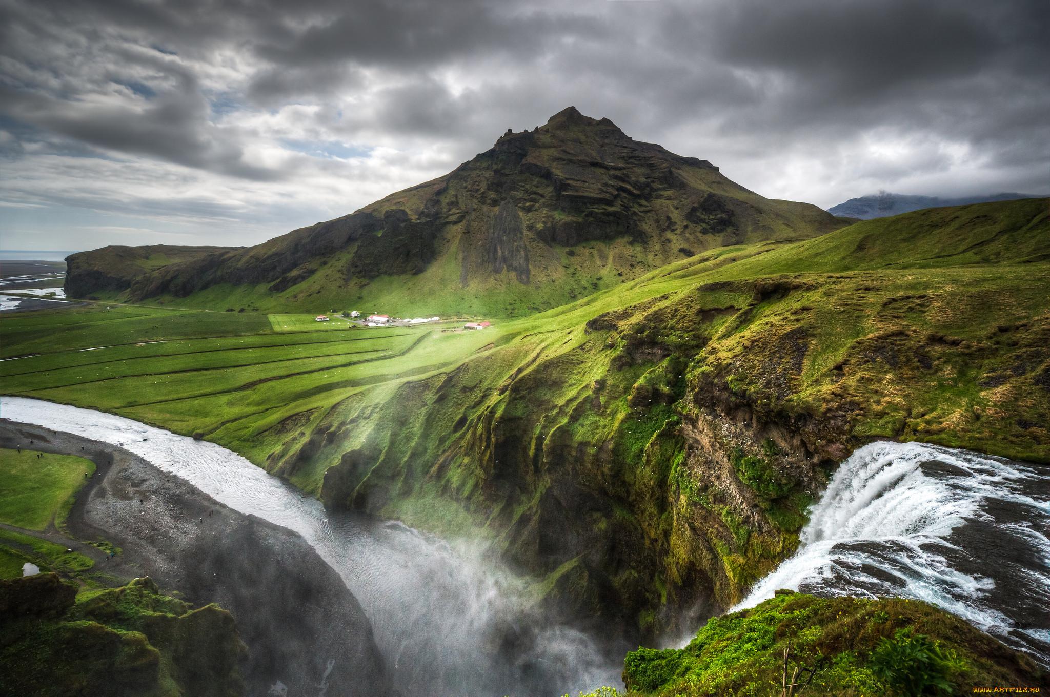 цветёт картинки исландия на рабочий стол слившихся